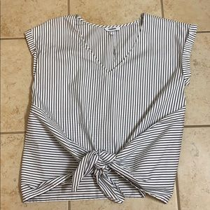 Express- black and white striped top
